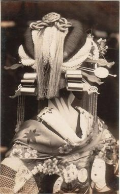 "Kimono historical  #photography #Japan the traditional  ""oi ran san"" geisha who performs the parade walk......"