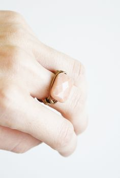Wrapped Peach Aventurine Ring DIY — Bettina's Blog - Something handmade