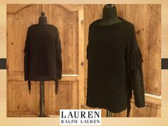 Fringe Sweater, Poncho Sweater, Vintage Sweaters, Hand Knitting, Beautiful Women, High Neck Dress, Ralph Lauren, Etsy Shop, Cotton