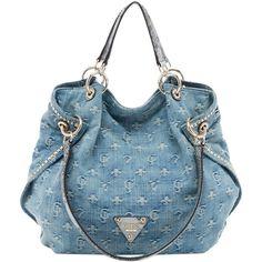 Guess Dylan Denim Satchel Handbags Purses And