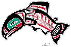 native alaskan art - Google Search Salmon Drawing, Alaska Salmon, Haida Art, Bee Tattoo, Tattoo Drawings, Tattoos, Native Art, Art Google, Line Drawing