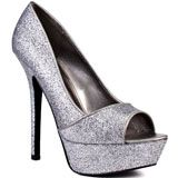 Carlos by Carlos Santana's Silver Sexy - Pewter Glitter for 99.99 direct from heels.com