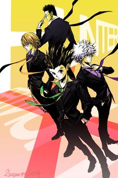 Hunter X Hunter - Wallpaper - Gon, Killua, Kurapika, & Leorio