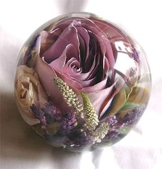 Lilac sensation paperweight