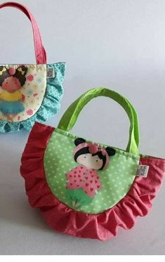 Diy Bags Patterns, Purse Patterns, Sewing Patterns, Sewing For Kids, Baby Sewing, Diy Sewing Projects, Sewing Crafts, Lace Bag, Diy Bags Purses