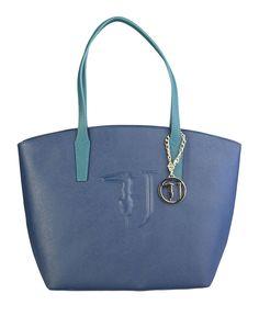 Shopping bag donna  Blu TRUSSARDI JEANS - Autunno Inverno - titalola.c