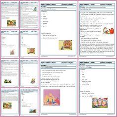 Comprensión lectora en Inglés. Cuentos Esl Resources, English Reading, English Grammar, Learn English, Short Stories, Teaching Kids, Classroom, School, Worksheets