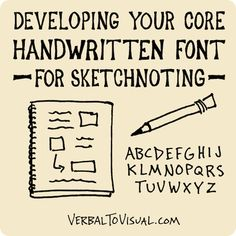 Developing Your Core Handwritten Font For Sketchnoting