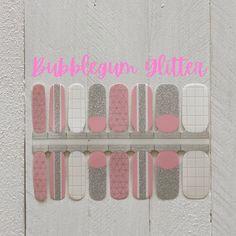Pink Glitter Nails/ Nail Stickers/ Holiday Nails/ Nail Wraps Holiday Nails, Christmas Nails, Christmas Nail Stickers, Pink Glitter Nails, Nail Patterns, Cuticle Oil, Us Nails, Nail Wraps, Short Nails