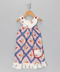 dress with circle collar and buttons