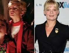 """Where Are They Now? The Goonies - Martha Plimpton as Stephanie """"Stef"""" Steinbrenner - Then and Now from 8Ball.co.uk / www.8ball.co.uk/blog/8ball_film/goonies-now/"""