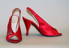 House of Charles Jourdan  Pumps  French 1980s  Silk, glass