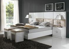 Aro de cama lacado en blanco o negro. Mod. ATENEA