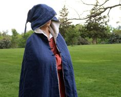 I like the triple clasps. - Blue Linen Cloak