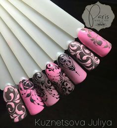 Beautiful nail art designs that are just too cute to resist. It's time to try out something new with your nail art. Fabulous Nails, Perfect Nails, Gorgeous Nails, Pretty Nails, Lace Nails, Pink Nails, My Nails, Elegant Nails, Stylish Nails
