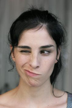 Sarah Silverman after all the dogs ran away after she tried to hump them