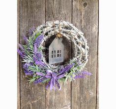 wianek na drzwi Lawendowy Dom