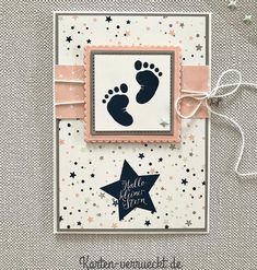 69 ideas baby first scrapbook ideas stampin up Stampin Up Karten, Karten Diy, Stampin Up Cards, Distintivos Baby Shower, Baby Shower Cards, Baby Scrapbook, Scrapbook Cards, Dou Dou, Baby Shower Invitaciones
