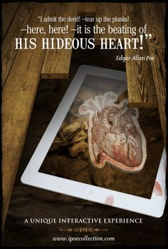 """Poe's The Tell-Tale Heart iPoe collection: The illustrated and interactive Edgar Allan Poe collection """" El Corazón Delator en iPoe collection The Tell Tale Heart, Quoth The Raven, Edgar Allan Poe, App Store, Gifs, David, Museum, Collection, Macabre"""