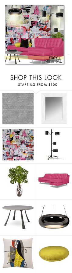 """Edgy Minimal Magazine Scraps"" by leanne-mcclean ❤ liked on Polyvore featuring interior, interiors, interior design, home, home decor, interior decorating, NLXL, Kartell, Access Lighting and SIScovers"
