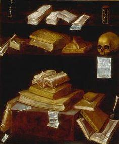 Juan Francisco Carrión - Vanitas con libros Vanitas, Memento Mori, Dance Of Death, Danse Macabre, Les Oeuvres, Still Life, Scary, Masters, Portugal