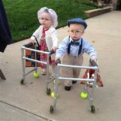 toddlers dressed up as old people with walkers - Bing Images