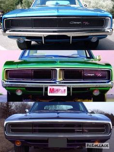 Dodge Chargers '68, '69 and '70.