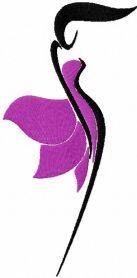 Women silhouette free machine embroidery design. Machine embroidery design. www.embroideres.com