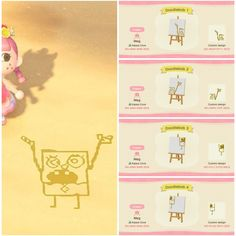 From Totoro drawings in the sand, to laying pink heart bricks on land, here are some cute non-clothing custom design codes for Animal Crossing: New Horizons Animal Crossing 3ds, Animal Crossing Qr Codes Clothes, Animal Crossing Pocket Camp, Animal Games, My Animal, Film Manga, Motif Acnl, Ac New Leaf, Motifs Animal