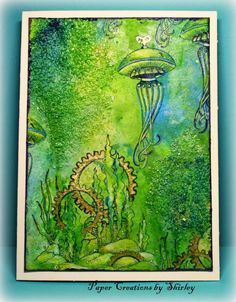 Chocolate Baroque Design Team: Steampunk Jellyfish with Texture (by Shirley)