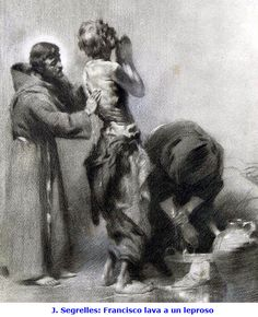 Francis and lepers Caravaggio, St Francisco, St Joan, Religious Pictures, Francis Of Assisi, The Monks, Old Paintings, Catholic Saints, Amazing Drawings