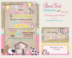 Barnyard party invitation  Petting Zoo party by blueangeldigitals