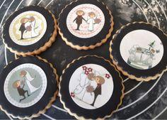 FotoPastel: Galletas de Boda, paso a paso, decoradas con papel de azucar y fondant