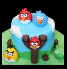 Angry bird cake idea