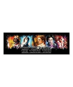 May The Force Be With You Character Wrapped Canvas