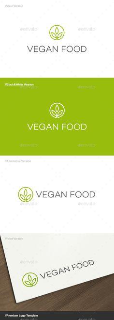 Vegan Food - Herbal Symbol Logo Template #design #logotype Download: http://graphicriver.net/item/vegan-food-herbal-symbol-logo/13083270?ref=ksioks
