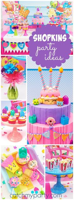 Wow! What an incredible Shopkins birthday party! See more party ideas at CatchMyParty.com!