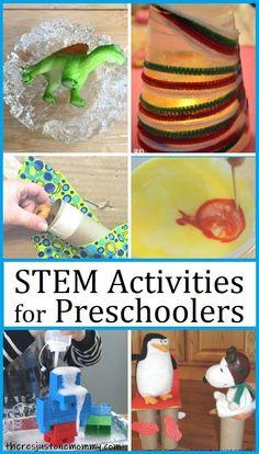 Tons of fun STEM activities perfect for preschoolers #STEMactivities #STEMforkids #preschool At Home Preschool Curriculum, Preschool Learning Activities, Science Activities, Preschool Ideas, Homeschooling, Problem Solving Activities, Stem For Kids, Students, Play