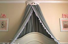 DIY Bed Crown & Canopy Tutorial