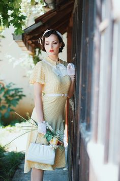 Idda van Munster - 1930's Sydney Opera house dress by The Gold Hatted Lovers.