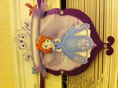 Sofia The First name birthday banner close up