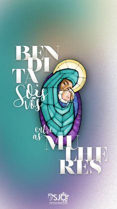 Bendito é o fruto do vosso ventre Jesus! Mother Mary Wallpaper, Jesus Wallpaper, I Love You Mother, Spirit Tattoo, Blessed Quotes, Jesus Art, Jesus Shirts, Catholic Art, God Loves Me