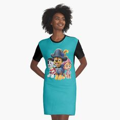 'Paw Patrol fun' Graphic T-Shirt Dress by StefaniaAlina Paw Patrol, Shirt Dress, T Shirt, Printed, Awesome, Fun, Stuff To Buy, Shopping, Dresses