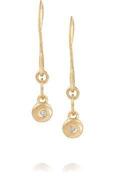 Melissa Joy Manning 14-karat gold diamond earrings   NET-A-PORTER