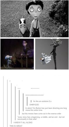 Frankenweenie // The Corpse Bride // The Nightmare Before Christmas // Tim Burton