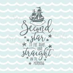 Peter Pan SVG deuxième étoile au fichier vectoriel SVG droit. Tant d Plus