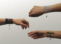 fab lace bracelets from sandra bautista via @charlesandmarie