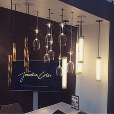 Fabulous shot by of our stand at the today! Indoor Wall Lights, Ceiling Lights, Bright Lights, Lighting Design, Olympia London, Chandelier, Bespoke, Instagram, House