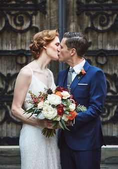 Jill and Jeffrey's Romantic Cobble Hill Restaurant Wedding