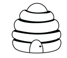 Bee Hive Coloring Pages For Kids Attention Grabbing Photograph